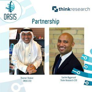 """اتمام عقد التعاون بين شركة """"Think Research"""" و شركة """"أوايسيس"""""""